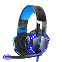 pc gaming headset surround sound großhandel-G2000 Stereo Gaming Headset für Xbox One PS4-PC, Surround-Sound-Over-Ear-Kopfhörer mit Noise Cancelling-Mikrofon, LED-Leuchten