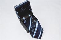 lazos de color lavanda al por mayor-2019 Hombres del diseñador Corbatas de seda Corbatas de moda para hombre Corbata de lujo con carta de marca con caja Ocio de negocios para regalos envío gratis