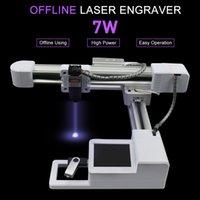 ingrosso macchine utensili laser-7000MW di legno Router OffLine controllo fresatrice CNC macchina per incidere 7W 3W incisione laser che intaglia gli strumenti di legno