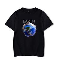 nuevas camisetas impresas al por mayor-Camisetas para hombre de verano de Earth Earth Cuello redondo Lils Nuevas canciones Imprimir Moda masculina Salvaje Causel Camisetas