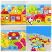 Wholesale gifts nail online - Tangram Jigsaw Puzzles Toys Mosaic Mushroom Nail Color Matching Kids Educational Birthday Gift Intelligence Popular yl F1