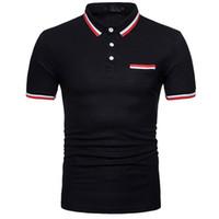 blusas de algodão de verão venda por atacado-Homens Algodão Designer de Moda Tee Personalidade de Verão dos homens Casual Magro Camisa de Manga Curta Polo T Top Blusa