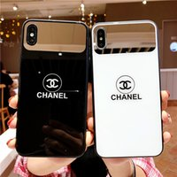 Wholesale iphone backs for sale online - 2019 New hot sale for iPhone plus shatter resistant shell iPhone XS MAX mobile phone case X XS mirror glass case S plus back cover