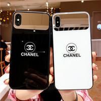 nuevos casos móviles al por mayor-2019 Nueva venta caliente para iPhone 6/7/8 más funda resistente a los golpes iPhone XS MAX caja del teléfono móvil X / XS caja de vidrio espejo 6S plus contraportada