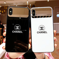 ingrosso copertine posteriori per cellulari-2019 Nuova vendita calda per iPhone 6/7/8 più shell infrangibile Custodia per cellulare XS MAX per iPhone X / XS custodia in vetro per specchio 6S più cover posteriore
