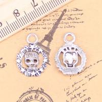 rose flower cross Tibetan Silver bead charm Pendant fit bracelet 8pcs 30*22mm
