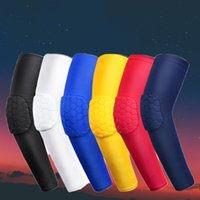 Wholesale pcs football resale online - 1 PC Arm Sleeve Elbow Support Basketball Arm Sleeve Breathable Football Safety Sports Elbow Pads Protective Restraint