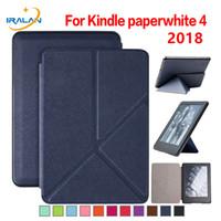 ingrosso accendete i casi di cuoio di paperwhite-Nuova custodia in pelle PU per Amazon Kindle Paperwhite 4 6 '' 2018 Cover di rilascio per kindle paperwhite 4 10a generazione