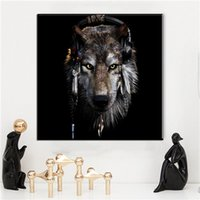 Wholesale black white art picture decor resale online - Black White Oil Painting On Canvas Modern Wall Art Decor Lion Animal Canvas Pictures Oil Painting For Livingroom Bedroom Wall Decor