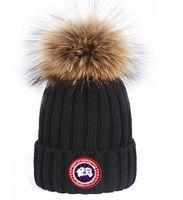ingrosso berretti di lana-marchio caldo di alta qualità Beanie CANADA Bonnet uomini donne casual maglieria di lana hip hop Gorros pom-pom papaline sfera capelli cappelli GOOSE all'aperto