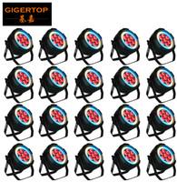 anéis led smd venda por atacado-Preço com desconto 20 unidades 7x12 W RGBWA UV 6IN1 com colorido anel SMD 5050 3in1 RGB LED Par Luz ao ar livre Led Par Zoom DMX512 Para Disco DJ