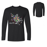 ingrosso grandi t-shirt bang-Magico Fashion Cube T-shirt maniche lunghe T Cotton Tops The Big Bang Theory Geek Cube maglietta Geometric Cube Uomo T shirts Polo