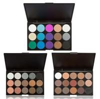 maquillage pigment d'ombre à paupières achat en gros de-Fard à paupières 15 couleurs Matte Pigment Eye Shadow Palette de maquillage cosmétiques Shimmer ombre à paupières pour les femmes composent