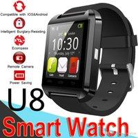 u8 интеллектуальный вызов ответа на вызов оптовых-Bluetooth U8 SmartWatch наручные часы с сенсорным экраном для Samsung S8 Android телефон спальный монитор Smart Watch розничной упаковке AnswerDial Call