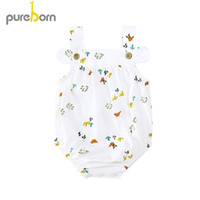 Wholesale baby boy s outfits resale online - Toddler Infant Newborn Sleeveless Bodysuit Baby Boys Girls Jumpsuit Playsuit Outfit Summer Sunsuit Clothes