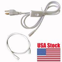 nuevo enchufe ce al por mayor-Nuevo cable de alimentación de 6 pies con interruptor EE. UU. Enchufe para luces de tubos T8 T5 integradas con cable de extensión cable de enchufe CE ROHS
