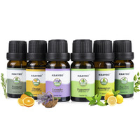 Wholesale orange fragrances resale online - 6PC Essential Oil for aroma essential oil diffuser ultrasonic air humidifier Fragrance of Rosemary Orange Lavender Peppermint Lemongrass Tea