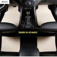 alfombrillas de auto 3d al por mayor-coche tapetes de piel universal para la herencia interior deporte XV coche BRZ 3D labrar toda la alta calidad de la alfombra antideslizante tiempo