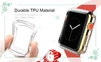 tpu anti şok ekran koruyucusu toptan satış-TPU Ekran Koruyucu Apple Ürünü Için 4 40 MM 44 MM Anti-Şok Şeffaf koruyucu Film Kapak Kılıf TAM DEĞIL Kapak
