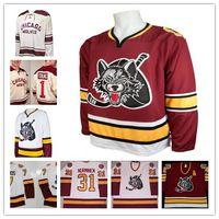 Wholesale ahl jerseys for sale - Custom AHL Chicago Wolves Derek MacKenzie  Chelios Young Matt Anderson b5cf880c181