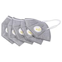 Wholesale anti fog dust mask resale online - 10Pcs Unisex Vertical Folding Nonwoven Valved Activated Carbon Anti Fog Dust Reusable Masks PM2 Respirator Mouth Mask Valve