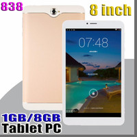 Wholesale 838 inch Dual SIM G Tablet PC IPS Screen MTK6582 Quad Core ram GB GB Android Phablet PAD
