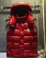 casaco de moda colete venda por atacado-Moda M Marca 90% de Pato Branco para baixo de Inverno Para Baixo Com Capuz colete para As Mulheres Casaco Fino Coletes Sem Mangas Feminino jaqueta