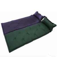 camping travesseiro automático inflável venda por atacado-Almofada de Dormir ao ar livre À Prova D 'Água Dormir Almofada de Ar Mat Colchão de Acampamento Esteira Inflável Automático com Travesseiro 183 * 57 * 2.5 cm ZZA768