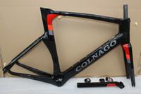 bisiklet altlığı toptan satış-2018 Hi-Q moda COLNAGO kavramı T1000 UD yarış tam karbon fiber yol çerçeve bisiklet komple bisiklet framese alt braketi BB386