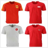 camisas blancas de china al por mayor-2019 Selección Nacional de Singapur China Inicio Fútbol jerseys Personalizar cualquier nombre cualquier número Indonesia casa Fuera Camiseta blanca roja del fútbol