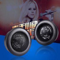 Wholesale small loudspeakers resale online - 2pc W Dome Car Audio Tweeters Speakers Super Power Loud Small MM Dome Tweeter Horn Loudspeaker For Motocycle Car automotivo