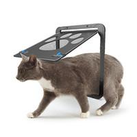 ingrosso porte del gatto-Forniture per animali domestici Forma a zampa Stampa Anti-morso Cani di piccola taglia Porta per gatti per zanzariere per finestre Scratchers per mobili per gatti RRA1738