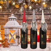 Wholesale use candles resale online - Christmas Caps Wine Bottle Cover Santa Claus Doll Toy Shape Wine Bottle Stopper Decoration New Year Xmas Party Decoration Use