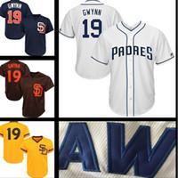 Wholesale free baseball logos for sale - San Diego Padres Jersey Tony Gwynn Wil Meyers Baseball Jerseys stitched Logos