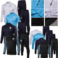 Wholesale 2019 Soccer Sets Marseille jersey High quality embroidery Breathable fabrics Cheap jerseys Adult shirt Football training suit