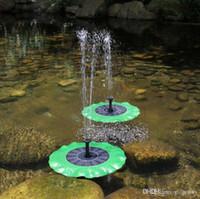 Wholesale pool kits resale online - 2018 Solar Water Pump Floating Water pomp Panel Kit Fountain Pool Pump Kit Lotus Leaf Floating Pond Watering Submersible Garden Water Pump