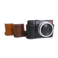 Wholesale camera lux resale online - For Leica C Lux Case Camera Cover Hard PU Leather Alloy Base Battery Door and Clip Tripod Screw Popular Style
