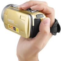 полный hd видеокамеры cmos оптовых-Горячая портативный ночного видения Full HD 1920 x 1080 3.0 дюймов 24MP ЖК-сенсорный экран 18X зум цифровой видеокамеры видеокамеры DV 2017 новый