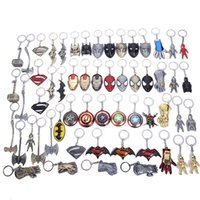 Wholesale mjolnir hammer avengers for sale - Group buy 2019 NEW Marvel Avengers Thor s Hammer Mjolnir Keychain Captain America Shield Hulk Batman Mask KeyChain Keyrings Drop