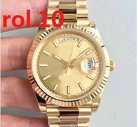Wholesale free shipping christmas gifts for sale - Group buy luxury fashion brand men watch Men s Automatic steel watch men s watches Golden belt Sapphire Christmas gifts