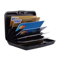пластиковый человеческий кошелек оптовых-Пластиковый держатель кредитной карты ABS кредитной карты бумажник тонкий RFID Пластиковый чехол кредитной карты для женщин мужчин