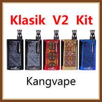 kit de aceite e cig al por mayor-Auténtica Kangvape Klasik V2 Mod Kit 650mAh Precalentar VV de la batería E Cig Vaporizador para cartucho de aceite grueso original del 100%