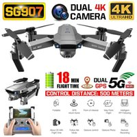 Wholesale GPS Drone with K P HD Dual Camera G Wifi RC Quadcopter Optical Flow Positioning Foldable Mini Drone VS E520S E58 MX191220