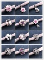 Wholesale cloisonne beads for charm bracelets resale online - Mix Style Big Hole Loose Beads Charm For Pandora DIY Jewelry Bracelet For European Bracelets Women Jewelry