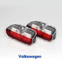 ingrosso luci jetta-2 pz LED Car Door Warning Lampada VW Logo Luce del Proiettore Per Jetta MK5 MK6 MK7 Passat B6 B7 CC Golf6 7 Weclome Luce