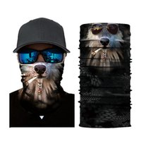 lenços engraçados venda por atacado-Engraçado Mágico 3D Sem Costura Headband Tubo Pescoço Cachecol Animal Ciclismo Máscara Facial Motocicleta bandeira nacional Lenços Lenços de Halloween Halloween lenço