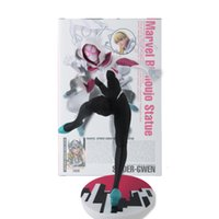 Wholesale spider woman figure resale online - 22cm Marvel Spider Woman Spider Gwen Stacy PVC Action Figure Toy Doll Christmas Birthday Gift