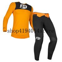 ingrosso mtb saxo jersey banca-Set di abbigliamento da uomo Motocross Racing Flexair Royl Jersey 2019 Mx Off-road arancione