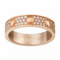 ingrosso ms stelle-Coppia Love Diamond Rings Womans Anello Diamond Luxury Full Acciaio al titanio Ms. Eternal Diamond Star Anello Coppia Band Rings con scatola originale