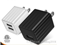 portable iphone charger großhandel-Hohe 2U Universal Charger Dual Wall Tragbares Ladegerät für iPhone X Xs 7 8 Plus Samsung Galaxy Note 9